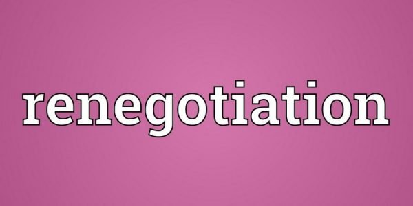 renegotiation