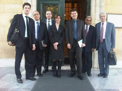 As member of a Fiscal Affairs Department mission to Greece, April 2010.